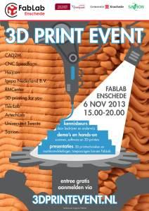 6 november 2013: 3D Print Event