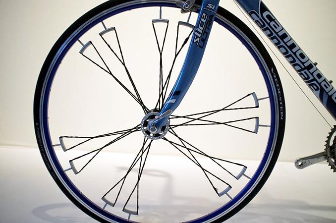 Wiel in fiets